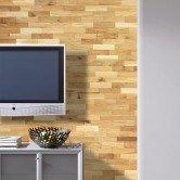 Mur tv - Revêtement Mural Bois Chêne Rustique Huilé