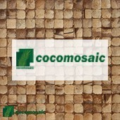 COCOMOSAIC - Revêtement Mural Bois en Noix De Coco Mosaïque