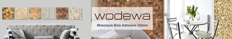 WOODMOSAIC - Plaquette Parement Bois Mosaïque