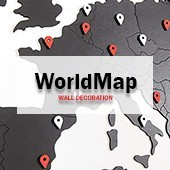 WORLMAP - Déco Carte du Monde Murale & Mappemonde Murale