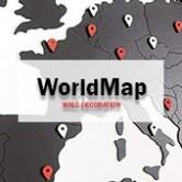 Carte du Monde Deco 3D & Map Monde Murale