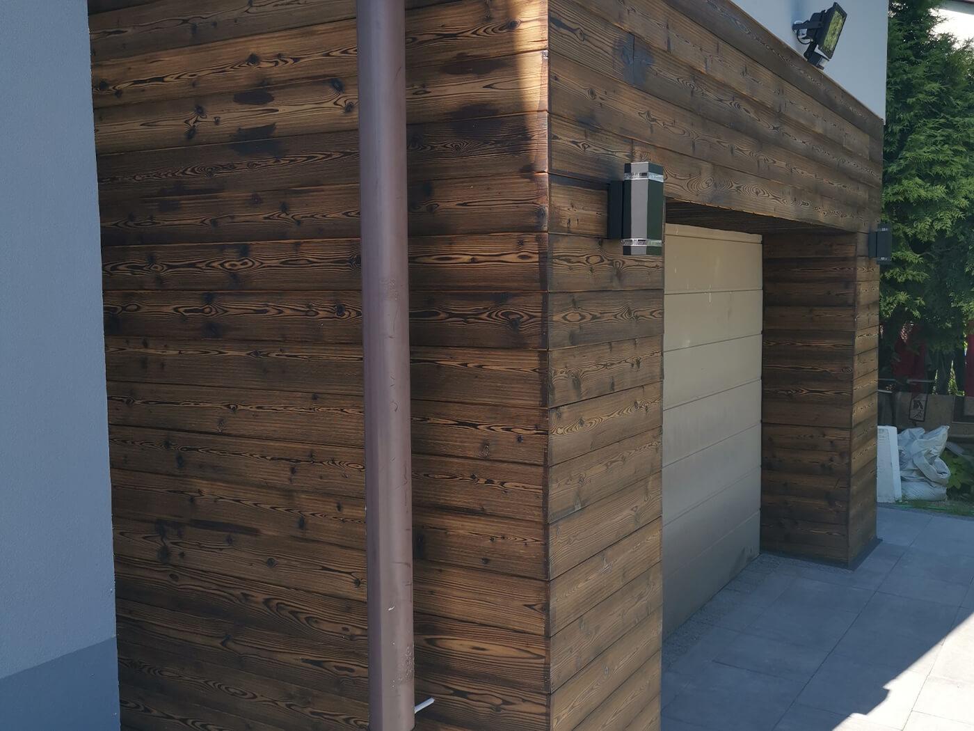 bardage bois garage