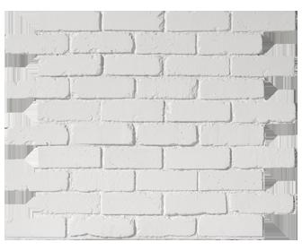 parement briques anglaises blanches