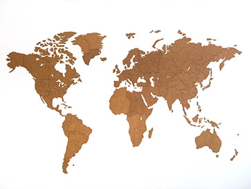 carte du monde en liege