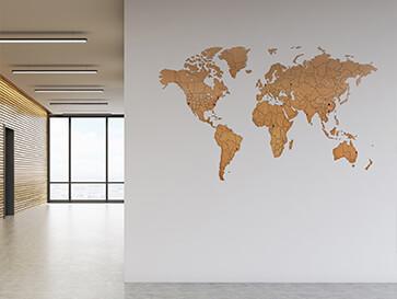 deco carte du monde