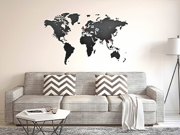 deco murale carte du monde