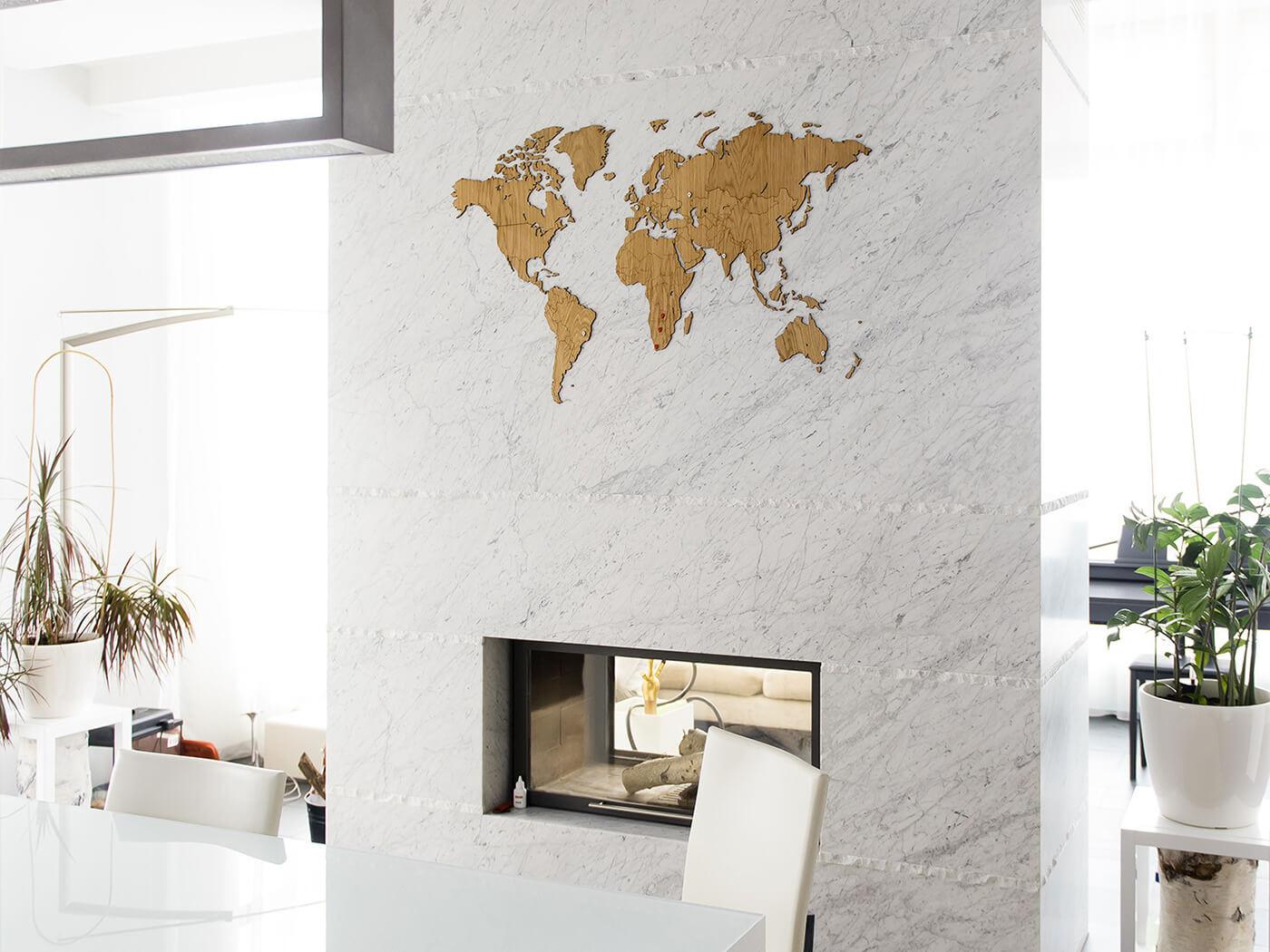 décoration avec carte du monde