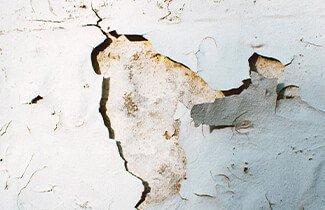 mur abîmé
