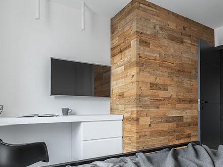 Mur bois intérieur décoratif