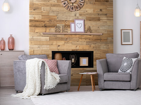 mur en bois decoratif