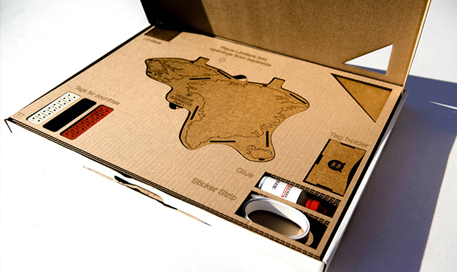 packaging carte du monde word map decoration
