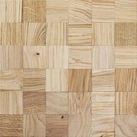 Panneau bois mosaique chêne nature