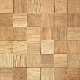 Panneau bois mosaique chêne huilé structuré