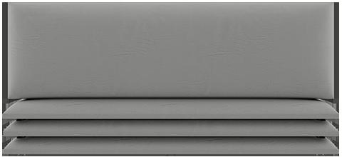 Panneau matelassé gris clair