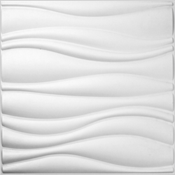 panneau mural 3d waves wallart