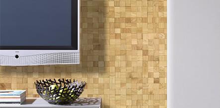 panneaux mosaique bois