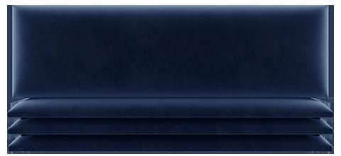 Panneau simili cuir bleu