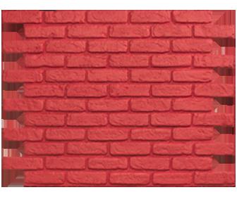 Parement mural brique