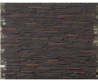 pierre de parement noir coloré