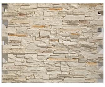 parement en pierre beige