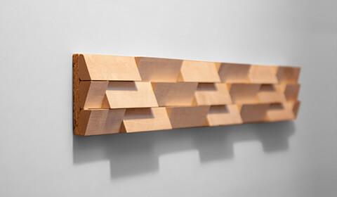 plaque habillage mur bois