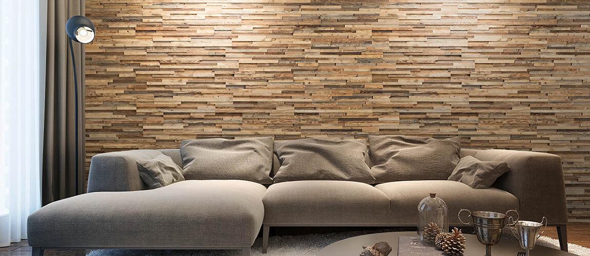 revêtement mural en bois recyclé