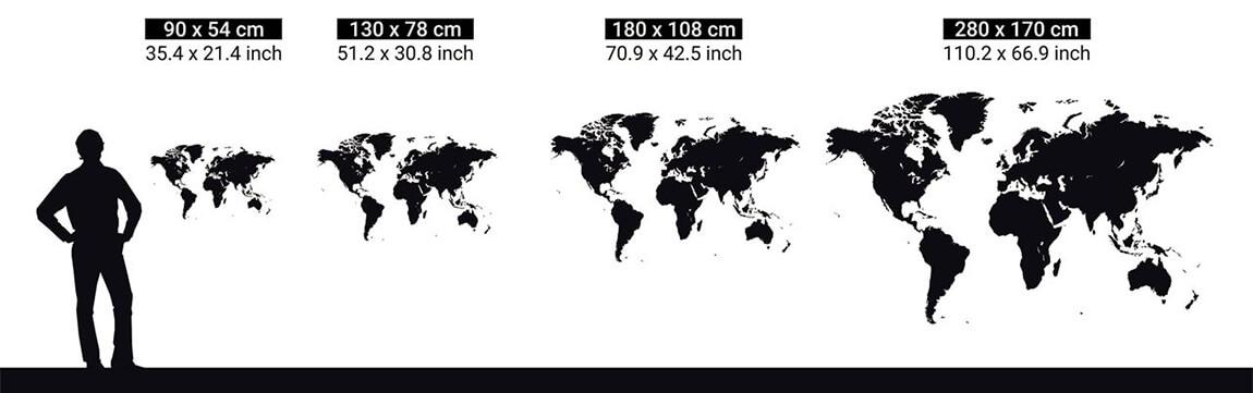 tailles carte du monde