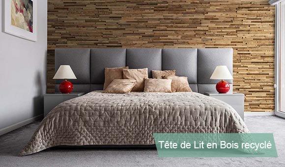 Tête de lit en Bois recyclé