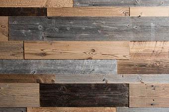 lambris en bois vieilli