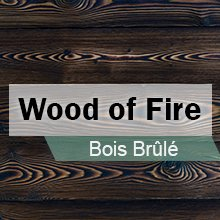 bardage bois brulé wood of fire