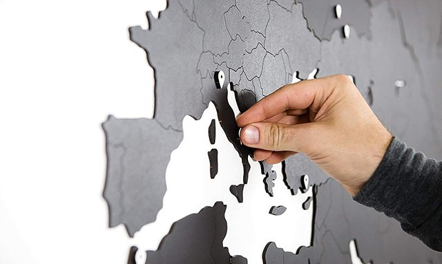 installation carte du monde