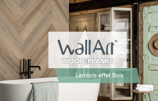 Lambris Mural PVC Imitation Bois