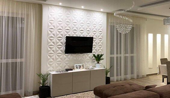 mur tv 3d salon