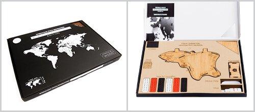 Packaging Carte du Monde Murale