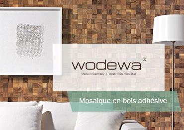 Plaquette Parement Bois Adhésif Mosaique